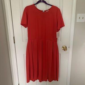 Red LuLaRoe Amelia Dress NWT